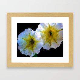 Abstract Petunias Framed Art Print