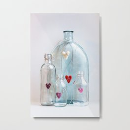 Bottles with love Metal Print