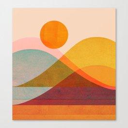 Abstraction_SUNSET_LANDSCAPE_POP_ART_Minimalism_018X Canvas Print