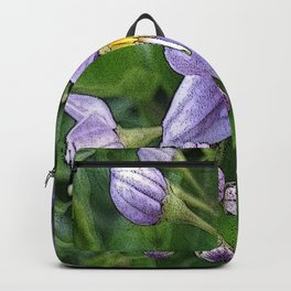 Small purple flowers Backpack