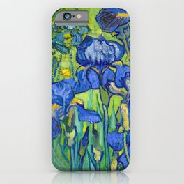 Vincent Van Gogh Irises Painting Detail iPhone Case