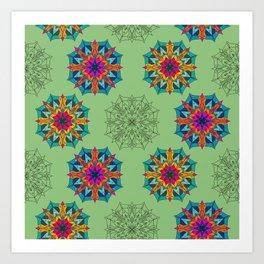 Mandala 4.2.2 Half Drop Pattern Art Print