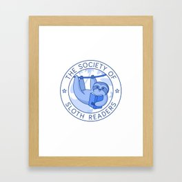 Society of Sloth Readers Framed Art Print