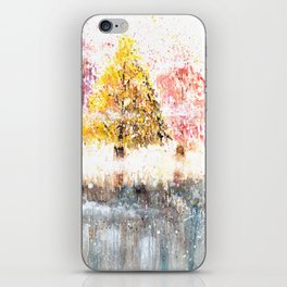 Watercolor Little Forest Illustration iPhone Skin