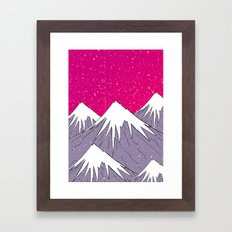 The mountains and the Snow Framed Art Print