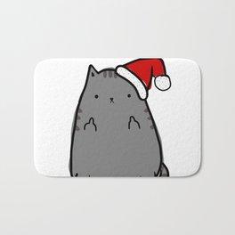 Christmas Cat Double Bird Bath Mat