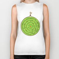 labyrinth Biker Tanks featuring Labyrinth by KATUDESIGN