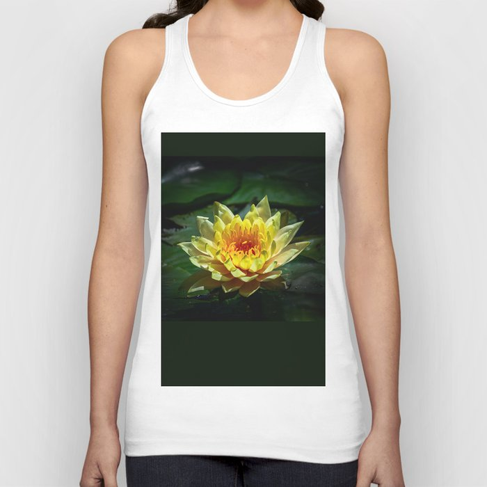 Yellow water lily Unisex Tank Top