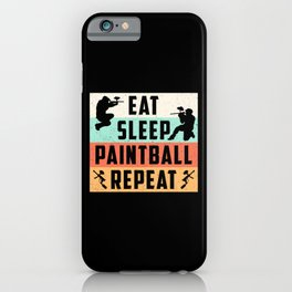 Paintball Airsoft Repeat Painter Retro Gift Idea iPhone Case