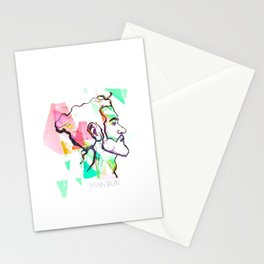 Man Bun Stationery Cards