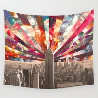 code Wall Tapestries featuring Superstar New York by Bianca Green