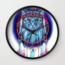 Dreamcatcher Cat Wall Clock
