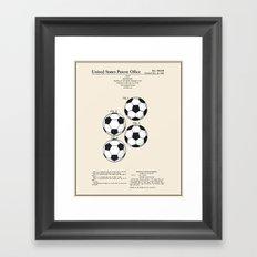 Soccer Ball Patent - Colour Framed Art Print