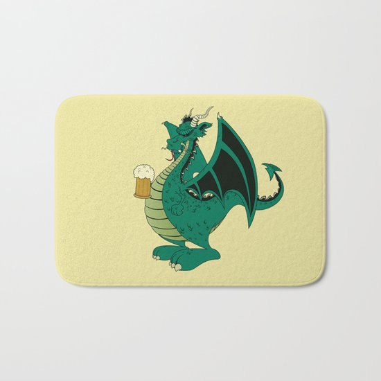 Green dragon Bath Mat