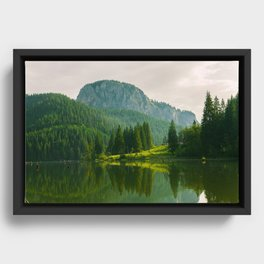 Red Lake, Romania Framed Canvas