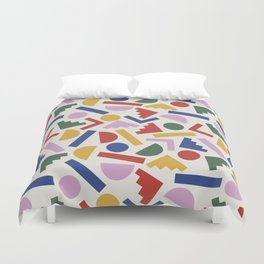 Colorful Geometric Shapes Duvet Cover