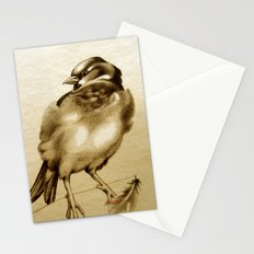 Sparrow With Feather Stationery Cards