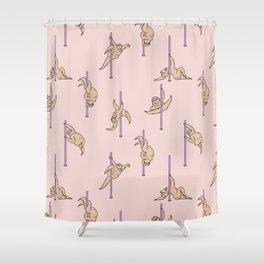Sloths Pole Dancing Club Shower Curtain