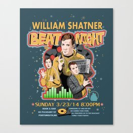 William Shatner Beat Night 2014 Canvas Print