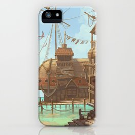 The Sand Bar, a pirate paradise iPhone Case