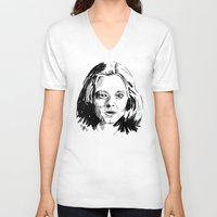 silence of the lambs V-neck T-shirts featuring Clarice Starling Sketch - The Silence of the Lambs by Soyarts