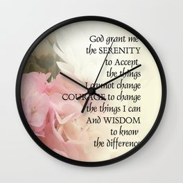 Serenity Prayer Bouquet Wall Clock