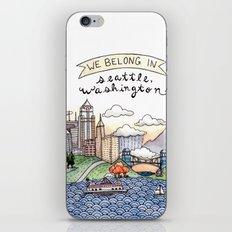 We Belong in Seattle iPhone & iPod Skin