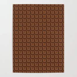 Just chocolate / 3D render of dark chocolate Poster