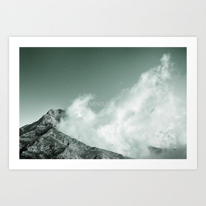 """Adventure at the mountain"" Art Print"