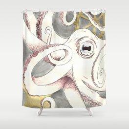 Octopus n Gears Shower Curtain