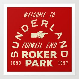 Roker Park Football Ground Art Print