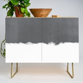 White Paint on Concrete Credenza