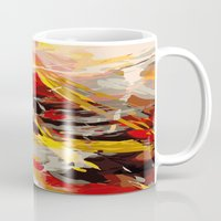 cage Mugs featuring fire cage by Matthias Hennig