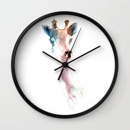 Giraffe / Abstract animal portrait. Wall Clock