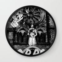 horror Wall Clocks featuring Horror by alexflasher