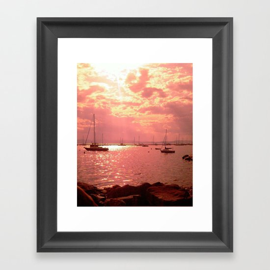 Red Lake Framed Art Print