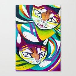 Cat Interplay 5 Canvas Print