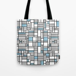 Map Lines Sky Blue Tote Bag