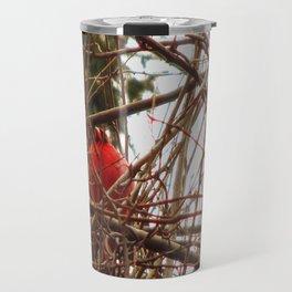 Chilly Cardinal Travel Mug