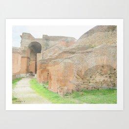 Ostia Antiqua Theatre - Italy Art Print