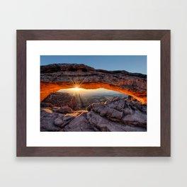 Mesa Arch Sunburst  by Lena Owens Framed Art Print