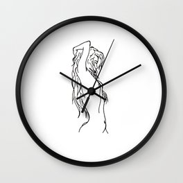 Morning Stretches Wall Clock
