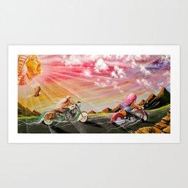 """Freedom ride"" Art Print"