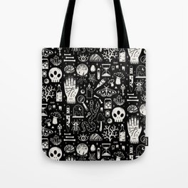 Curiosities: Bone Black Tote Bag