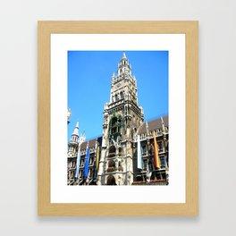 Glockenspiel of Munich. Framed Art Print
