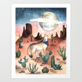 Coyote Moon Art Print