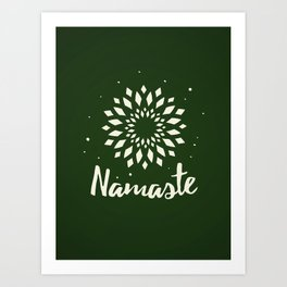 Namaste Mandala Flower Power Art Print