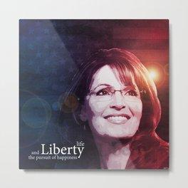 Sarah Palin Patriot Metal Print