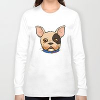 frenchie Long Sleeve T-shirts featuring Frenchie by The Audyssey