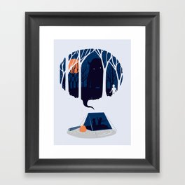 Scary story Framed Art Print